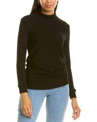 Monrow Rib Tunic Sweater - Black