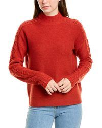Forte Mixed Rib Cashmere Jumper - Red