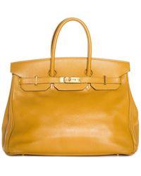 Hermès Gold Clemence Leather Birkin 35 Phw - Multicolour