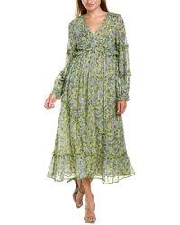 Ranna Gill Printed Maxi Dress - Green
