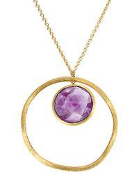 Marco Bicego Jaipur 18k Amethyst Circle Pendant Necklace - Metallic