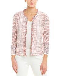 NIC+ZOE Sightseer Tweed Open-front Cardigan - Pink
