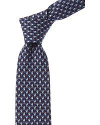 Ferragamo Blue Mistral Silk Tie
