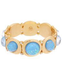 Kenneth Jay Lane 22k Plated Blue Opal Bracelet