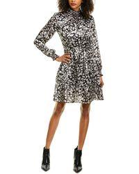 Karl Lagerfeld Satin Mini Dress - Black