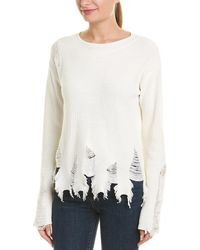 MILLY Deconstructed Jumper - White