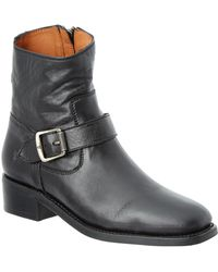 Frye - Hannah Leather Engineer Boot - Lyst