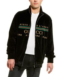 Gucci Logo Embroidered Jacket - Black