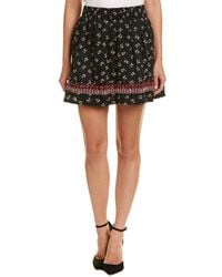 Ella Moss | Embroidered A-line Skirt | Lyst