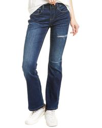 WASH LAB Olivia Tapestry Baby Flare Leg Jean - Blue