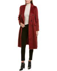 Brunello Cucinelli Wool & Alpaca-blend Coat - Red