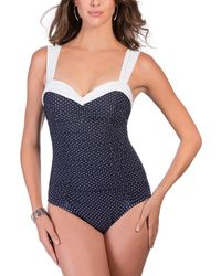 Miraclesuit Pin Point Saxon One-piece - Blue