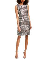 Piazza Sempione Silk-blend Shift Dress - Brown