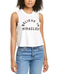 Spiritual Gangster Believe In Miracles Crop Tank - Grey