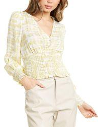 Lucy Paris Skyler Smocked Top - Yellow