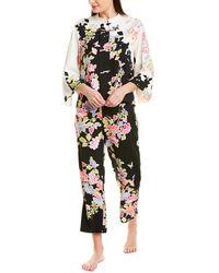 Natori Josie Gardenia Sleepwear Pyjama Set - Black