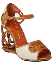 Charlotte Olympia - Rattan Leather Wedge - Lyst
