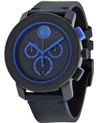 Movado - Men's Leather Watch - Lyst