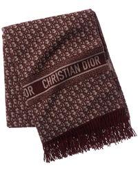 Dior Cd Oblique Throw - Red
