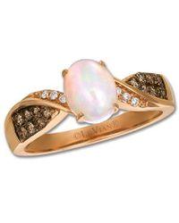 Le Vian ? Chocolatier? 14k Strawberry Gold 0.84 Ct. Tw. Diamond & Opal Ring - Metallic