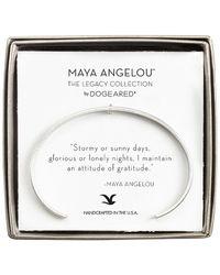 Dogeared Maya Angelou Silver Cuff - Metallic