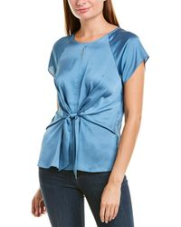 Vince Camuto Tie-front Top - Blue
