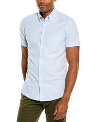 Reiss Dunning Slim Fit Woven Shirt - Blue