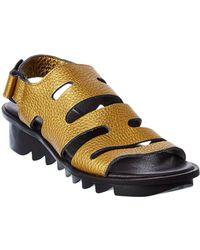 Arche Ikheno Leather Sandal - Metallic