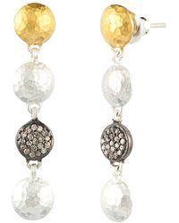 Gurhan Spell 24k Over Silver 0.32 Ct. Tw. Diamond Earrings - Metallic