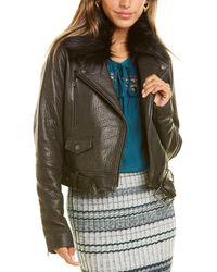 Ramy Brook Maguire Leather Jacket - Black