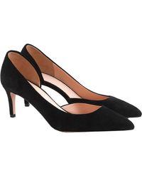 J.Crew Lucie Suede Court Shoes - Black
