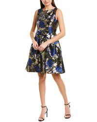 Tahari Tahari Asl Cocktail Dress - Blue