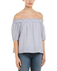 1.STATE Off-the-shoulder Blouse - Blue