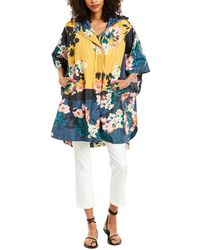 Johnny Was Garden Reversible Poncho - Blue