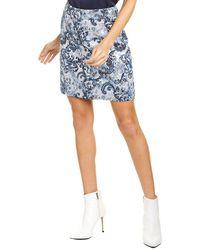 Elie Tahari Barbie Rx Mini Skirt - Blue