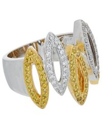 Diana M. Jewels . Fine Jewellery 14k Two-tone 0.60 Ct. Tw. Diamond Ring - Metallic