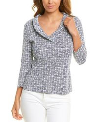 J.McLaughlin Zebra Square Durham Top - Blue