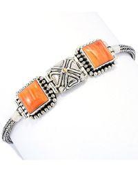 Samuel B. 18k Over Silver Orange Spiny Oyster Bracelet - Metallic