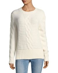 The Kooples - Fancy Cable Knit Sweater - Lyst