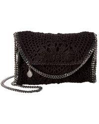 Stella McCartney Falabella Mini Crochet Shoulder Bag - Black