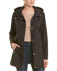 Cole Haan Packable Rain Jacket - Black