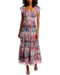 Diane von Furstenberg Lexie Tie-dye Belted Maxi Dress - Multicolor