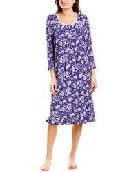Eileen West Modal Spandex Jersey Waltz Nightgown - Purple