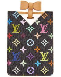 Louis Vuitton Takashi Murakami X Black Monogram Multicolore Etui Miroir