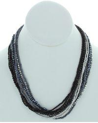 Sparkling Sage - Silver Resin Necklace - Lyst