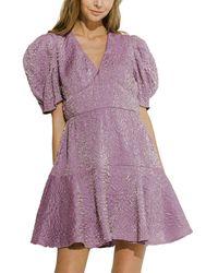 Endless Rose Mini Dress - Purple