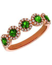Le Vian 14k Rose Gold 0.81 Ct. Tw. Diamond & Emerald Ring - Green