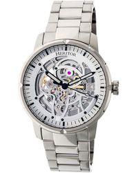 Heritor Ryder Automatic Silver Skeleton Dial Watch - Metallic