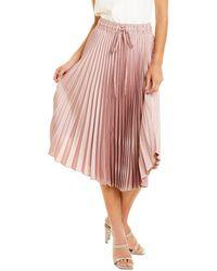 Club Monaco Pleated Skirt - Pink