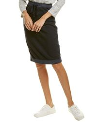 Three Dots Beach Terry Mini Skirt - Black